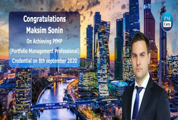 Congratulations Maksim on Achieving PfMP..!